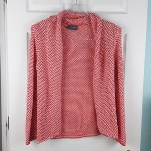 Wooden Ships Pink Open Front Cardigan Size S/M